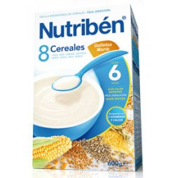 Nutriben Papilla 8 Cereales Galleta Maria 600gr