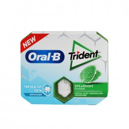 Oral B Chicle Trident Hierbabuena 10ud